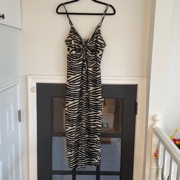 Zara Trafaluc S/S 18 Zebra Print Dress